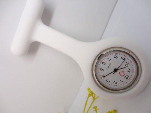 M-G-X Unisex Krankenschwester oder Arzt einfach und bequem Armbanduhr, weiß, 9.5*3.5*2.