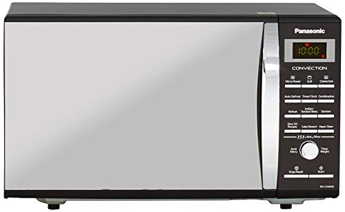 Panasonic 27L Convection Microwave Oven(NN-CD684BFDG, Black Mirror Finish, Rotisserie) with Starter Kit