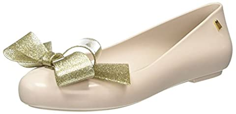 Melissa Space Love Ribbon Bow, Ballerines femme - Beige (nude Gold Contrast), 39 EU
