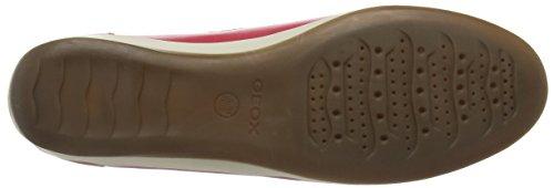 Geox D Yuki A, Mocassins (Loafers) Femme Rouge (C7008)