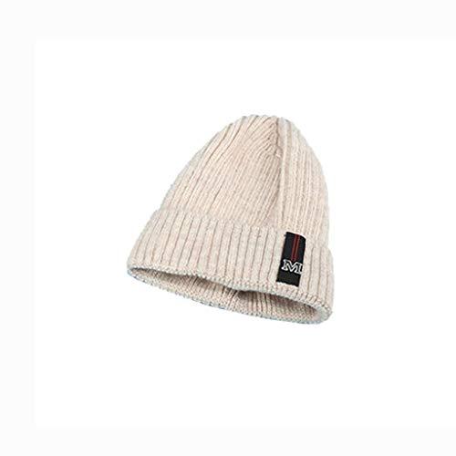 Nosterappou Bonnet en laine simple et élégant, épais et plein et chaud, circonférence de la tête élastique, aucune pression sur la tête, bonnet froid épaississant pour hommes et femmes, cache-oreilles