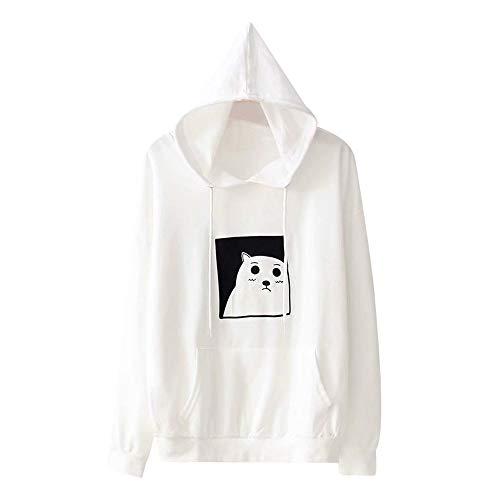 Papst Kapuze Kostüm - TWIFER Damen Hoodie Pullover Kapuzen Tasche Kapuzenpullover Langarm Shirt Sweatshirt