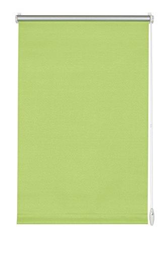GARDINIA Thermo-Rollo mit Thermo-Rückseite zum Klemmen oder Kleben, Höchste Lichtreflektion, Energiesparend, Lichtundurchlässig, Alle Montage-Teile inklusive, EASYFIX Rollo Thermo, Apfelgrün, 90 x 210 cm (BxH) -