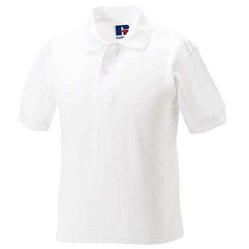 Jerzees Schoolgear Boys And Girls Short Sleeve polycotton Polo Shirt White
