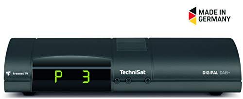 TechniSat DIGIPAL DAB+ DVB-T2-Receiver mit DAB+ Digitalradio, PVR-Aufnahmefunktion, HDTV, kartenloses Irdeto-Zugangssystem für freenet TV, App-Steuerung, Internetfunktionalität, 12V, anthrazit