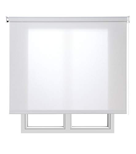 Estores Basic Screen Estor Enrollable, Tela, Gris, 120x180 cm