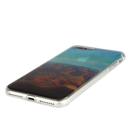 MOONCASE iPhone 7 Plus Coque, Ultra Mince Motif Etui Souple TPU Silicone Antichoc Housse Case pour iPhone 7 Plus (Tour Eiffel) Venise