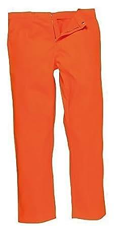Bizweld Combinaison ignifuge de soudure (environ 36 Pantalon de travail Orange)