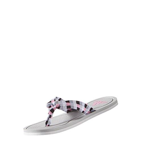 adidas Litha Tex W, Tongs Femme Multicolore - Blanco / Rosa / Azul (Grpulg / Ftwbla / Briros)