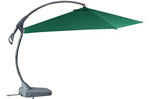 Ampelschirm KYNAST Deluxe grün Ø 3,5 m mit Ständer Fuss Sonn