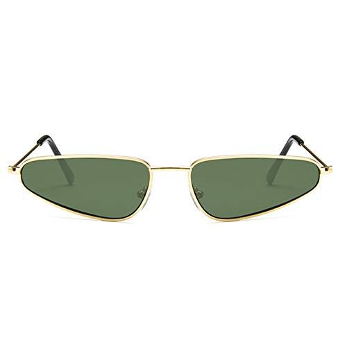 Aienid Sonnenbrille Damen Glass Personalisiertes Dreieck Gold Grün Sonnenbrille Für Frauen
