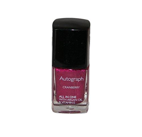 Autogramm von M & S All in One Nail Farbe mit Argan Öl 11ml | Cranberry