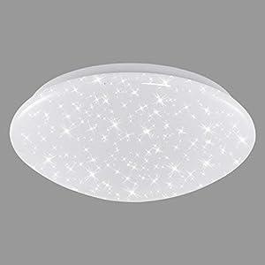 Briloner Leuchten – LED Deckenleuchte, Deckenlampe mit Sternendekor, 12W, 1.200 Lumen, 4.000 Kelvin, weiß, Ø28 cm