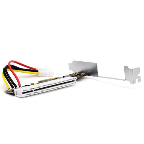 CSL - Tarjeta de interfaz PCI-Express (PCIe) a PCI | formato Low Profile | Adaptador/tarjeta adaptadora | tarjeta de red/ISDN / tarjeta gráfica / tarjeta controladora I/O / tarjeta de edición de vídeo