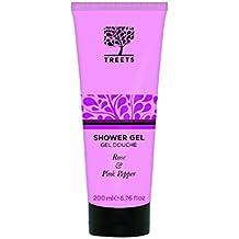 Treets Cuidado del Cuerpo Shower Gel Rose & Pimienta rosa, 1er Pack (1 x 200 ml)
