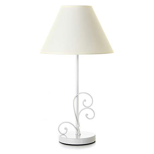 Lámpara de sobremesa romántica Blanca de Metal para la Entrada France - LOLAhome