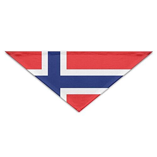 Gxdchfj Norway Large Flag Triangle Pet Scarf Dog Bandana Pet Collars Dog Cat - Birthday