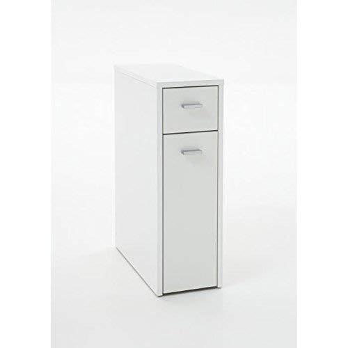 13Casa – Nora A5 – Mobile multiuso. Dim: 20x45x61 h cm. Col: Bianco. Mat: Truciolare, Melamina. - 2