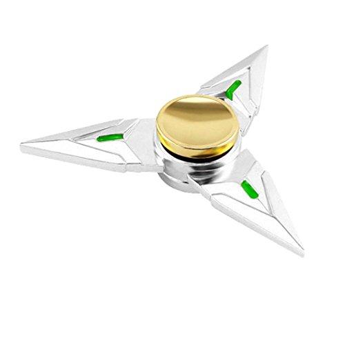 Preisvergleich Produktbild Saingace Fidget Spinner Tri Fidget Hand Spinner Dreieck Metall Finger Focus Spielzeug Kinder / Erwachsene