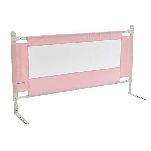Barrières de lit LHA Clôture de Jeu pour Enfants Se Pliant bébé Rampant Bambin Garde-Corps bébé -150cm, 180cm, 200cm (Couleur : Pink, Taille : L-200cm)