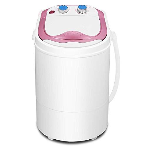 Yyqtxyj Mini Lavadora-Secadora Capacidad de Lavado de 2 kg, 220 V Lavadora de bañera Individual for el hogar Semi-automática pequeña Lavadora portátil