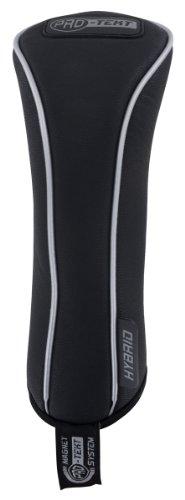 PRO-TEKT Headcover/ Schlägerhaube für Hybrid-Schläger, aus Kunstleder schwarz schwarz