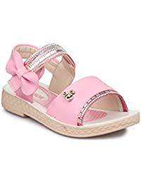 PhedarusTrendy Open Toe Sandals For Girls With Velcro Closure - Pink (PH-8806/9-GRLSNDL-SA)