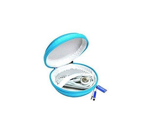 Romote bleu clair en cuir PU Ecouteur dur sac pour casque