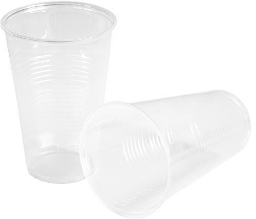 HEKU 30450, 50 Einweg-Trinkbecher, klar, 0,5l, PP