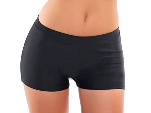 Hotpants/Bikinihose/Badeshorts/Panty in verschiedenen Farben! Formen einen knackigen Po und können nach Lust und Laune kombiniert werden, (Oct-flav-H9-f3427) Schwarz