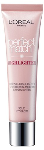 L'Oreal Paris Highlighter Make-Up Foundation Perfect Match 301.C Icy Glow, 1 Stück
