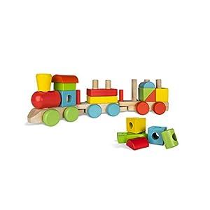 Tren madera colores - ColorBaby 18 piezas