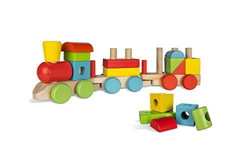 ColorBaby - Tren de madera, 18 piezas (40998)