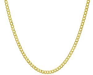 Citerna 46 cm/18 inch Length and 4.7 mm Width 9.8 g 9 ct Yellow Gold Curb Chain Necklace