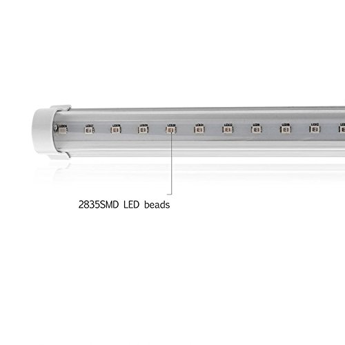 Zantec Tragbare 24 LED keimtötende ultraviolette Lampen UVlicht Stange für Badezimmer Küche Toilette