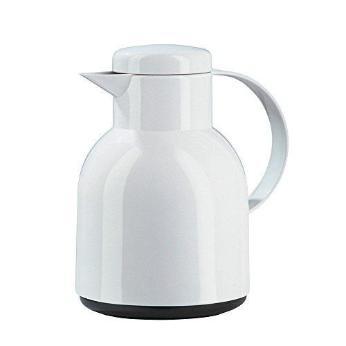 Emsa 661101204 Samba Isolierkanne (1 Liter, Schraubverschluss, 12h heiß, 24h kalt) weiß