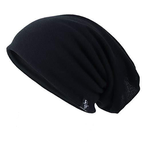 Ruphedy Herren Mütze Slouchy Skull Cap Sommer Dünn Baggy Oversize Strick Hat B301, Herren, schwarz, Medium (Slouchy Was Beanie)