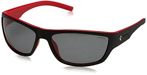 Polaroid PLD 7007/S AH VRA, Gafas de Sol para Hombre, Negro (Black Red/Grey Pz), 63