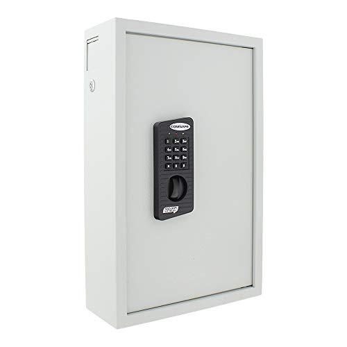 Rottner Schlüsseltresor Keytronic 100 mit Elektronikschloss - inkl. Notöffnung mittels Schlüssel - mit seitlichem Einwurfschlitz -  100 GRATIS Schlüsselanhänger - Wandbefestigung