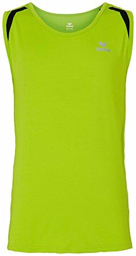 Erima Shirt Running Singlet Lemon Green/Black, M