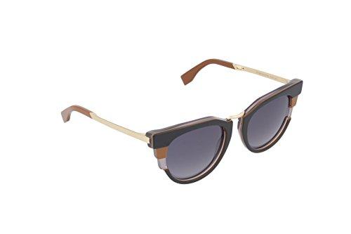 Fendi Damen Wayfarer Sonnenbrille FF 0063/S HD, Gr. 50 mm, MVB