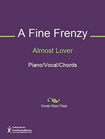 Almost Lover Sheet Music Pianovocalchords Ebook Alison Sudol