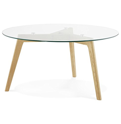 Alterego - Table Basse de Salon Ronde 'GLAZY' en Verre