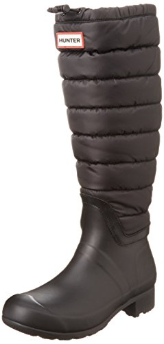 Hunter Original Quilted Leg Damen Stiefel Schwarz Black