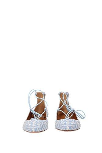 Zapatillas De Ballet De Aquamarura Bordado De Christy Planas Mujer - Tejido (chrflar0emj) Eu Celeste