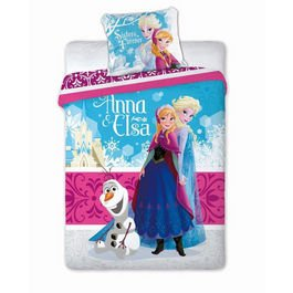 FUNDA NÓRDICA FROZEN + FUNDA COJÍN cama individual de 90 (160x200) rosa + pack calcetines