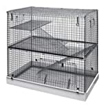Lazy Bones Wire Rodent Cage Double Storey 72x45x68cm