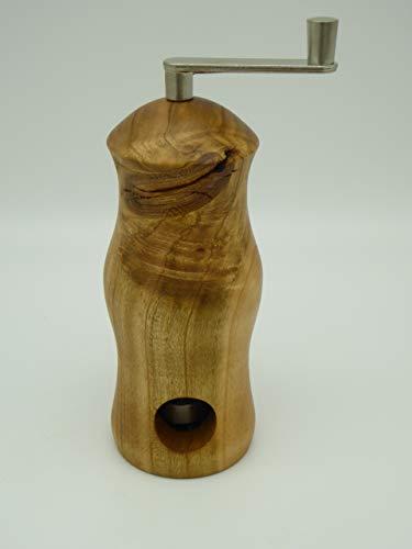 Muskatmühle handgedrechselt aus Wildkirsche, Kirschbaum Holz