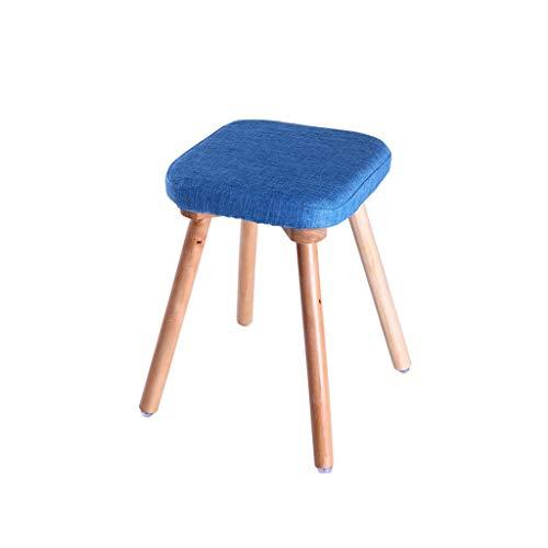 ZHWEI Footstool Nordic Hocker Massivholz Mahlzeit Hocker Quadratischer Hocker Tuch Kamm Make-up Hocker Haushalt Hocker (Farbe : Schwarz) - Dressing Kamm