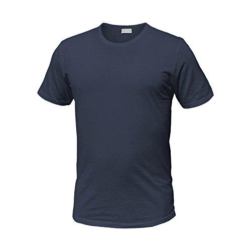 Pack 3 t-shirt liabel cotone bianco e assortito girogola / scollo v. art.4428 ( 3 pack girogola nero blu grigio - 7 / xxl)